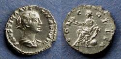 Ancient Coins - Roman Empire, Faustina Jr 145-175, Denarius