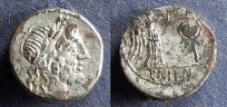 Ancient Coins - Roman Republic, Cn Lentulus Clodianus Circa 88 BC, Fourree Quinarius
