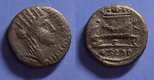Ancient Coins - Antioch Syria AE-16  Struck 127/8 AD