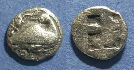 Ancient Coins - Eion, Macedonia 470-460 BC, Diobol