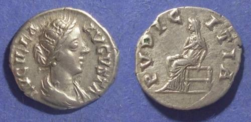 Ancient Coins - Roman Empire, Lucilla 161-169 AD, Denarius