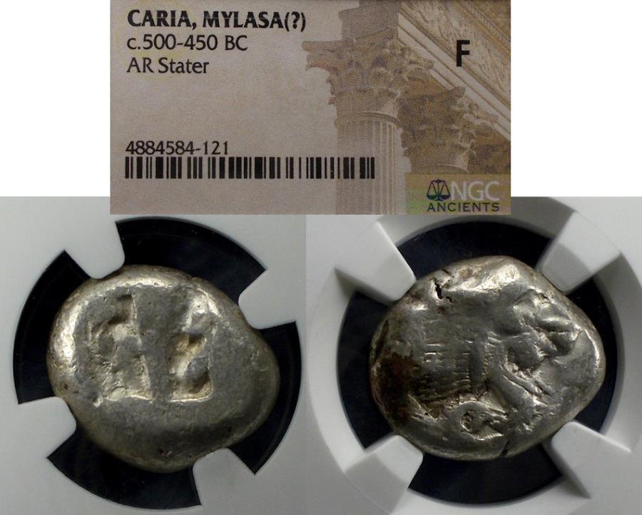 Ancient Coins - Caria, Mylasa(?) 500-450 BC, Stater