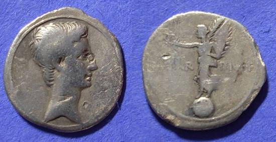 Ancient Coins - Octavian (Augustus) Denarius 30 BC