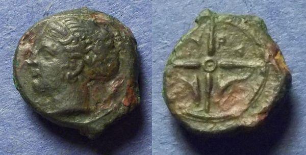 Ancient Coins - Syracuse, Sicily Circa 415 BC, AE Hemilitron