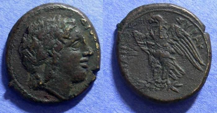 Ancient Coins - Syracuse, Sicily, Hiketas 288-278 BC, AE21