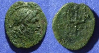 Ancient Coins - Syracuse Sicily, Roman rule Circa 200 BC, AE13