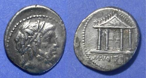 Ancient Coins - Roman Republic, M Volteius M f 78 BC, Denarius