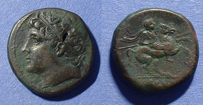 Ancient Coins - Syracuse Sicily AE28 Hieron II 275-215 BC