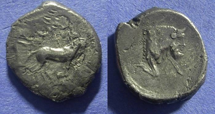 Ancient Coins - Gela Sicily – Tetradrachm  450-440 BC