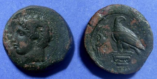 Ancient Coins - Akragas, Sicily 400-380 BC, Hemilitron