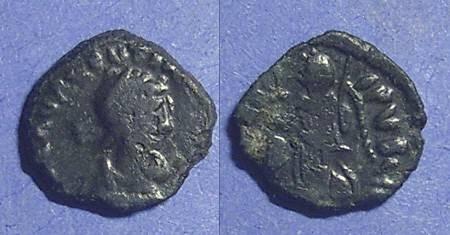 Ancient Coins - Roman Empire, Valentinian III 425-455, AE4