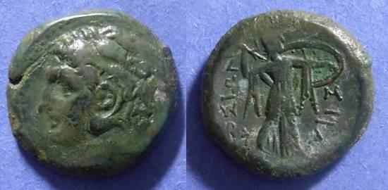 Ancient Coins - Syracuse Sicily, Pyrrhus 278-6 BC, AE22