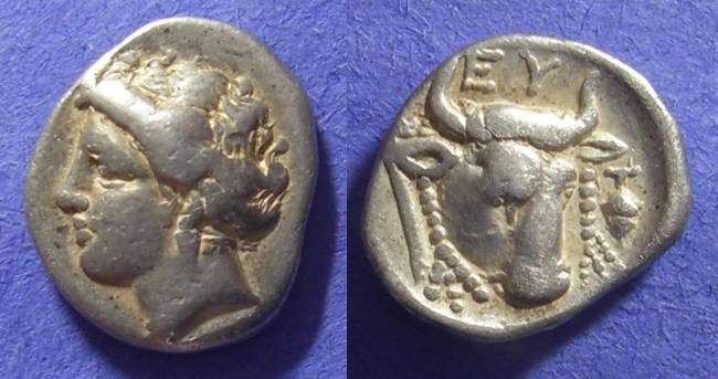 Ancient Coins - Euboian League,  304-290 BC, Drachm