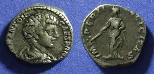 Ancient Coins - Roman Empire Caracalla (as Caesar) 196-8 Denarius