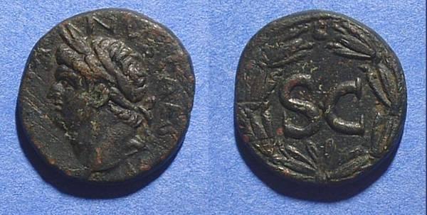 Ancient Coins - Domitian as Caesar 69-81AD AE21 iof Antioch