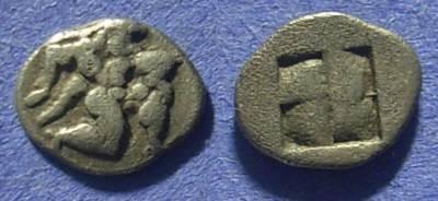 Ancient Coins - Thasos, Island off Thrace Trihemiobol 510-480BC