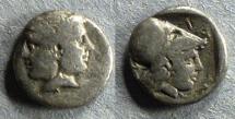 Ancient Coins - Mysia, Lampsakos Circa 350 BC, Diobol