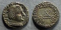 Ancient Coins - Western Kashahtraps, Vijayasena as Mahasatrap 239-250 AD, Drachm