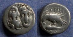 Ancient Coins - Moesia, Istros 380-330 BC, Drachm