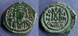 Ancient Coins - Byzantine Empire, Maurice Tiberius 582-602, Follis