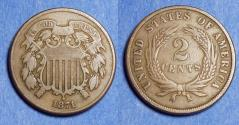 Us Coins - United States,  1871,  2 Cent