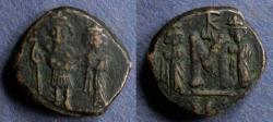 Ancient Coins - Byzantine Empire, Constans II 641-668, Follis