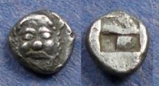 Ancient Coins - Lesbos, Methymna 500-460 BC, Tritartemorion