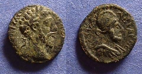 Ancient Coins - Edessa Mesopotamia - Abgar VIII and Commodus AE-13