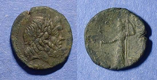 Ancient Coins - Syracuse Sicily AE20 Roman Rule 212-150 BC