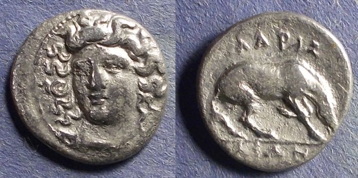 Ancient Coins - Thessaly, Larissa 356-342 BC, Diobol