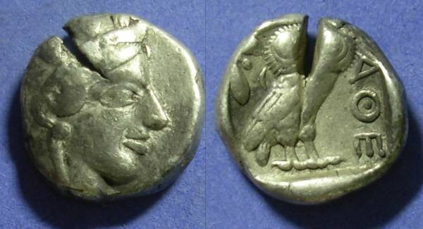 Ancient Coins - Athens – Tetradrachm 449-413BC