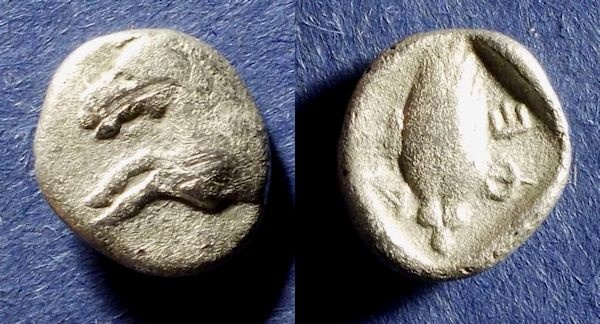 Ancient Coins - Thessalian League,  Circa 450 BC, Hemidrachm