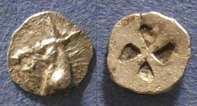 Ancient Coins - Mende, Macedonia 520-480 BC, Tritartemorion