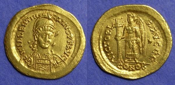 Ancient Coins - Valentianian III 425-455 – Solidus