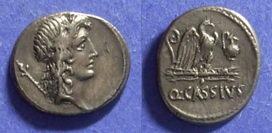 Ancient Coins - Roman Republic Q Cassius Longinus 55 BC Denarius