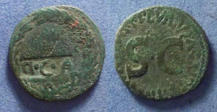 Ancient Coins - Roman Empire, Augustus Circa 20, Dupondius