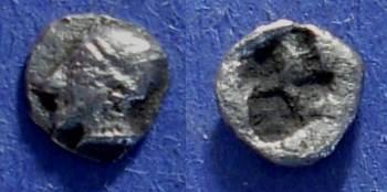 Ancient Coins - Phokaia, Ionia 521-478 BC, tetartemorian