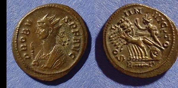 Ancient Coins - Probus 276-282 Antoninianus - Sol in a quadriga reverse