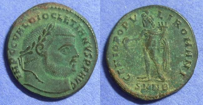 Ancient Coins - Diocletian 284-305 Follis