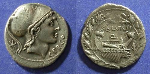 Ancient Coins - Roman Republic, Q. Lutatuius Cerco 109-8, Denarius