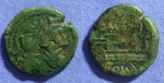 Ancient Coins - Roman Republic Semis 130BC Q Caecillius Metellus