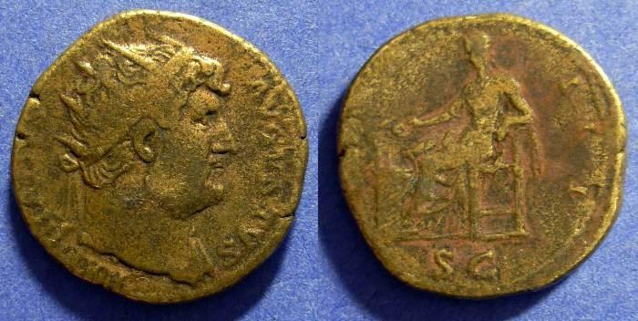 Ancient Coins - Hadrian 117-138 Dupondus