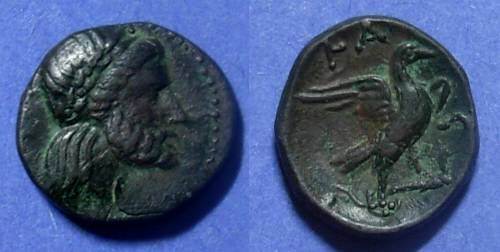 Ancient Coins - Elis, Olympia 220-191, AE18