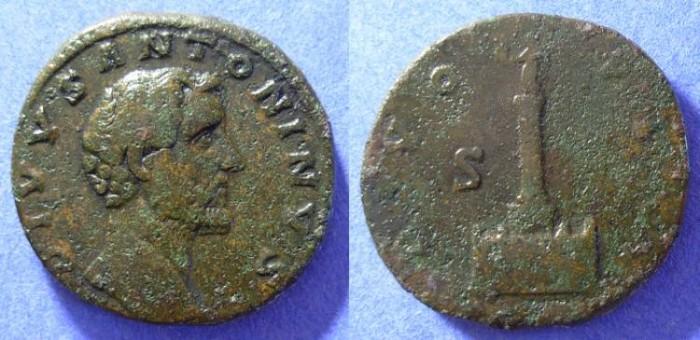 Ancient Coins - Antoninus Pius ( Divo issue ) Circa 161AD - Sestertius