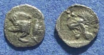 Ancient Coins - Mysia, Kyzicos 525-475 BC, Tetartemorion