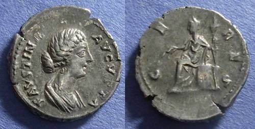 Ancient Coins - Roman Empire, Faustina d. 175, Denarius