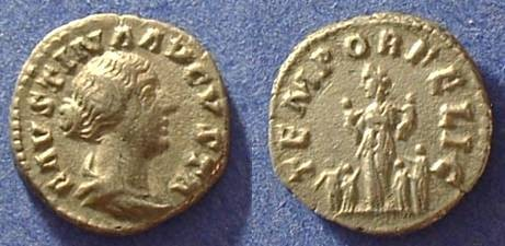 Ancient Coins - Faustina Jr d.175AD (wife of M. Aurelius) Denarius