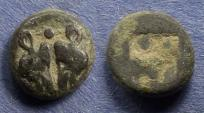Ancient Coins - Lesbos, Uncertain mint 500-450 BC, Diobol