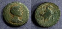 Ancient Coins - Lakonia, Sparta 48-35 BC, AE19