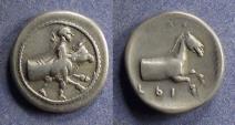 Ancient Coins - Thessaly, Trikka 440-400 BC, Hemidrachm